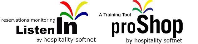 Listen In - Reservations Monitoring by Hospitality Softnet ... and ... Pro Shop - A Training Tool by Hospitality Softnet.